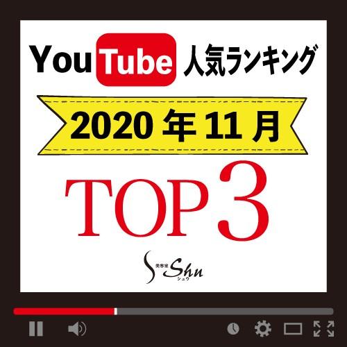【発表★】2020年11月のYoutube人気ランキングTOP3をご紹介![美容室Shu(シュウ)]