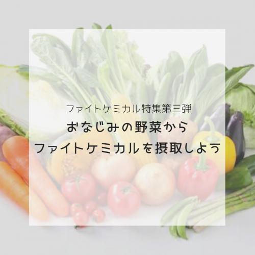 ファイトケミカル特集〜おなじみの野菜からファイトケミカルを摂取しよう〜