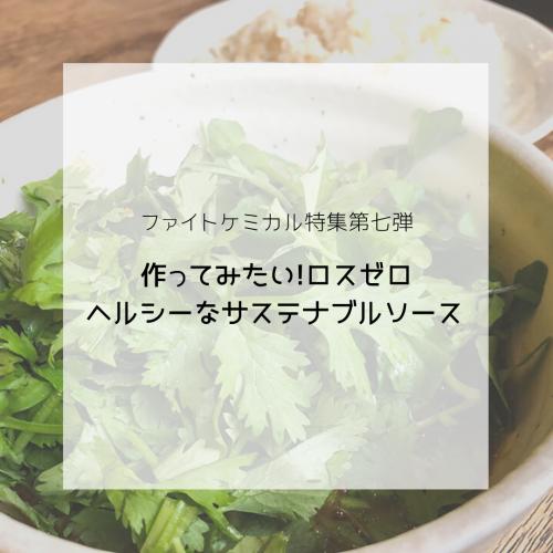 ファイトケミカル特集〜美味しくヘルシーなサステナブルソース〜